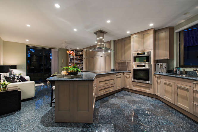 Rarely Available Pent House-small-006-Kitchen  Den-666x445-72dpi